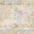 Grungy Antique Vintage Floral wallpaper collage Background Royalty Free Stock Photo