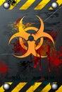 Grungy Biohazard Stock Image