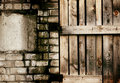 Grungy brick and wooden texture Royalty Free Stock Photos