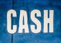 Grungy Cash Sign Royalty Free Stock Photo
