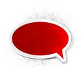 Grungy Chat Bubble Royalty Free Stock Photography