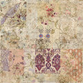 Grungy collage of shabby chic vintage wallpapers