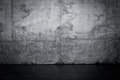 Grungy dark concrete wall and wet floor Royalty Free Stock Photo