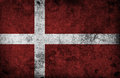 Grungy Denmark Flag Stock Images