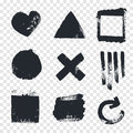 Grungy design elements. Royalty Free Stock Photo