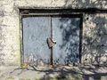 Grungy Door on Old Historic Jail Royalty Free Stock Photo