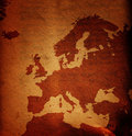 Grungy Europe map Royalty Free Stock Photos