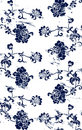 Grungy floral pattern Royalty Free Stock Photo