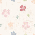 Grungy floral seamless pattern Royalty Free Stock Photo