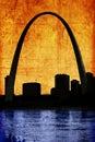 Grungy Gateway St. Louis Missouri Arch Royalty Free Stock Photo