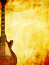 Grungy Guitar Stock Image