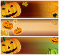 Grungy Halloween pumpkin Headers Royalty Free Stock Photo