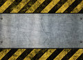 Grungy hazard sign metal plate Stock Image