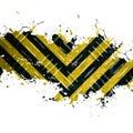 Grungy Hazard Stripes Royalty Free Stock Photo