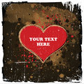 Grungy Heart Design Royalty Free Stock Images