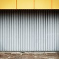 Grungy industrial street wall Royalty Free Stock Photo