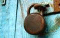 Grungy Locked Doors Royalty Free Stock Photo
