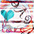 Grungy Love Abstract Background Stock Image