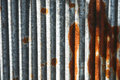 Grungy metal texture, surface of aged rusty iron fence. Texture Royalty Free Stock Photo