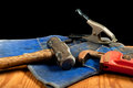 Grungy old tools Royalty Free Stock Image
