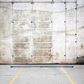 Grungy parking wall Royalty Free Stock Image