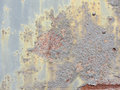 Grungy rusty metal door closeup und niet beschaffenheit Lizenzfreies Stockbild
