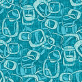 Grungy Seamless Retro Pattern Stock Photography