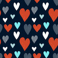 Grungy seamless vector heart pattern for valentine s day Royalty Free Stock Photography