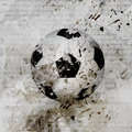 Grungy soccer ball background Stock Photos
