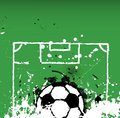 Grungy soccer football illustration ball free space for your text Stock Image