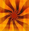 Grungy sunburst background