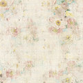 Grungy vintage floral background antique with flowers around frame and blank in middle Royalty Free Stock Photos