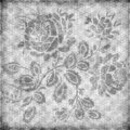 Grungy vintage floral damask scrapbook background Stock Image