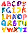 Grungy watercolor alphabet Royalty Free Stock Image