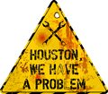 Grungy website failure warning sign, houston, we have a problem, vector illustration Royalty Free Stock Photo