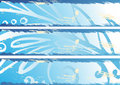 Grungy winter banners Royalty Free Stock Image