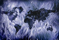 Grungy world map Royalty Free Stock Photo