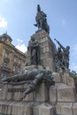 Grunwald monument plac matejki krakow poland Royalty Free Stock Photography