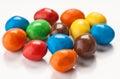 Grupo de bolas coloridas do chocolate Imagem de Stock