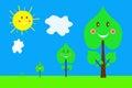 Grupo de imagens das árvores do germe à árvore grande Imagem de Stock Royalty Free