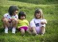 Grupo de meninas Foto de Stock