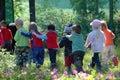 image photo : Group of school kids