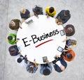 Gruppo multietnico di gente di affari con l e business Fotografia Stock
