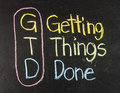 GTD for Getting Things Done Royalty Free Stock Photo