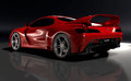 Gtvz car in red my own design of the ultimate sports gt combining the classic lines of a sporty coupe with the latest engine and Royalty Free Stock Images