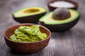 Guacamole with avocado Royalty Free Stock Photo