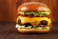 Guacamole beef burger Royalty Free Stock Photo