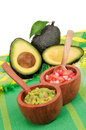 Guacamole, Pico de Gallo and Avocados Royalty Free Stock Image