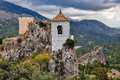 Guadalest on a cloudy day costa blanca spain Stock Photography