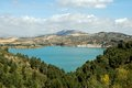 Guadalhorce Lake near Ardales, Spain. Royalty Free Stock Photos